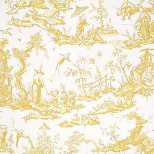 Yellow Wallcovering by Schumacher Wallpaper