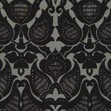 Black Traditional Wallcovering by JF Wallpapers