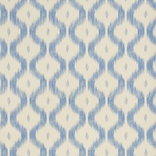 China Blue Flamestitch Wallcovering by Stroheim Wallpaper