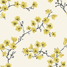 Yellow/Gold Traditional Wallcovering by JF Wallpapers