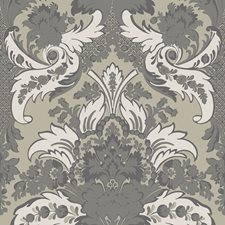 Silver and White Wallcovering by Cole & Son Wallpaper