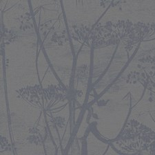 Gilver/Black Botanical Wallcovering by Cole & Son Wallpaper