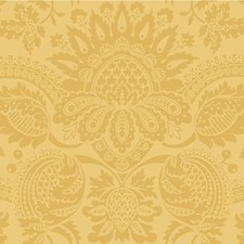 Yellow Damask Wallcovering by Cole & Son Wallpaper