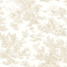 Cream/Beige/Light Brown Scenic Wallcovering by York
