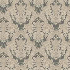 Charcoal/Light Brown Damask Wallcovering by York