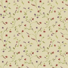 Ecru/Green/Red Botanical Wallcovering by York