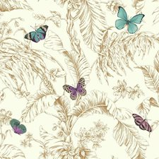 Gold/Blue/Purple Animals Wallcovering by York
