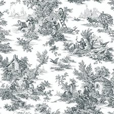 Black/White Toile Wallcovering by York