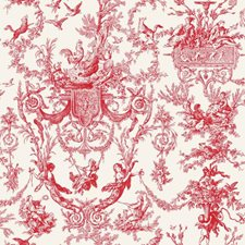 Real Red/White Sidewall Wallcovering by York