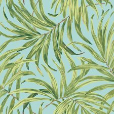 Aqua/Yellow/Green Botanical Wallcovering by York
