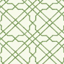 White/Medium Green/Dark Green Geometrics Wallcovering by York