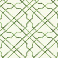 White/Medium Green/Dark Green Geometrics Wallcovering by York
