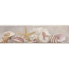 Black/White Sea Shells Wallcovering by York