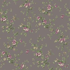 Pewter/Wisteria/Heather Botanical Wallcovering by York