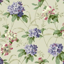 Pearl White/Lavender/Coral Botanical Wallcovering by York