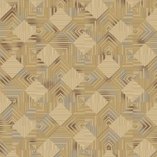 Beige/Red/Gold Geometrics Wallcovering by York