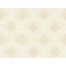 Ivory/Metallic Sidewall Wallcovering by York