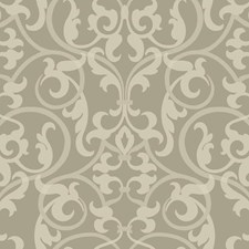 Silver Grey/Light Grey/Pale Grey Traditional Wallcovering by York