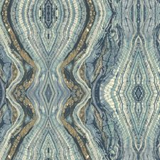 Blues/White/Tan Novelty Wallcovering by York