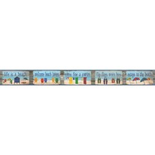Blue/Red/Green Words Wallcovering by York