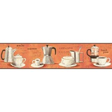 Orange Novelty Wallcovering by York