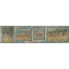 Blue/Brown Animals Wallcovering by York