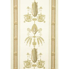 Gold Print Wallcovering by Brunschwig & Fils
