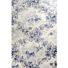 Blue Animal Wallcovering by Brunschwig & Fils