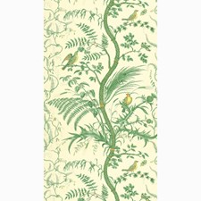 Green Toile Wallcovering by Brunschwig & Fils