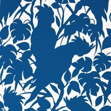 Boca Blue On White Contemporary Wallcovering by Brunschwig & Fils