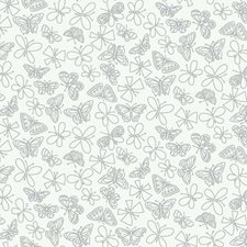 White/Silver Animals Wallcovering by York