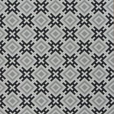 Silver/Charcoal Geometric Wallcovering by G P & J Baker