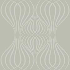 Metallic Silver/Gray Geometrics Wallcovering by York