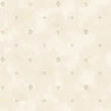 Beige Polka Dot Wallcovering by Brewster