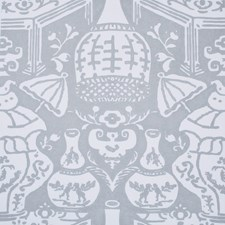 Grey Blue Wallcovering by Clarence House Wallpaper
