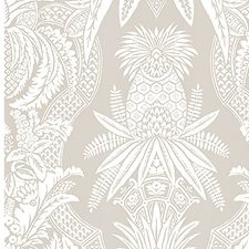 Bianco/Beige Wallcovering by Scalamandre Wallpaper