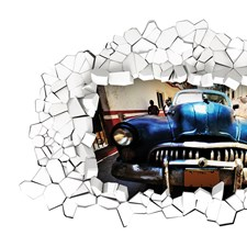 CR-44206 Car Funny Panoramic Wall Decal by Brewster
