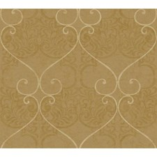 Warm Gold/Deep Gold/Champagne Traditional Wallcovering by York
