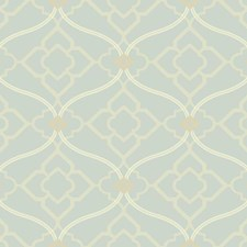 Pale Silvery Blue/White/Grey Bohemian Wallcovering by York