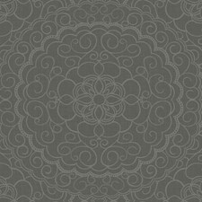 Dark Grey/Black/Gold Glitter Damask Wallcovering by York