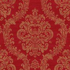 Bright Red/Metallic Gold/Dark Red Damask Wallcovering by York