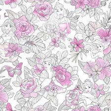 DI0965 Disney Princess Royal Floral by York
