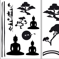 DM74103 Asian Feeling Wall Decals by Brewster