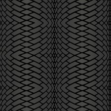 Frosted Silver/Frosted Graphite/Plush Obsidian Black Geometrics Wallcovering by York