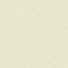 Beige/Cream Greek Key Wallcovering by York