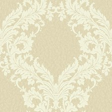 Beige/Light Taupe/Cream Damask Wallcovering by York