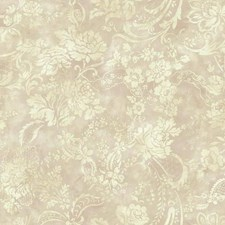 Metallic Pink/Cream/Beige Floral Wallcovering by York