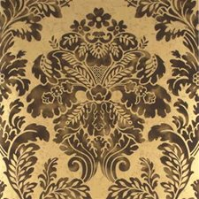 Charcoal/Gold Damask Wallcovering by Mulberry Home