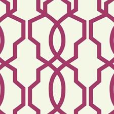 Magenta/White Geometrics Wallcovering by York