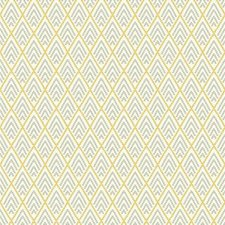 Cream/Medium Grey/Medium Yellow Geometrics Wallcovering by York